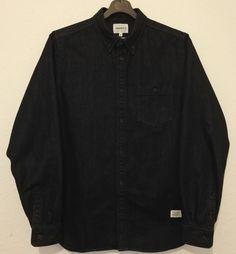 Norse Projects Anton Mens Denim Work Shirt Long Sleeve Indigo Dark Wash Size M