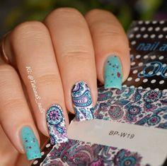 2 패턴/시트 피는 꽃 네일 아트 워터 데칼 전송 스티커 태어난 예뻐요 BP-W19 #20610