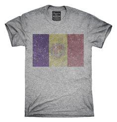 Retro Vintage Andorra Flag T-Shirts, Hoodies, Tank Tops