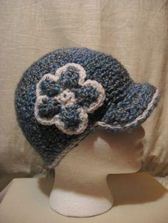 Ocean white trim brimmed hat