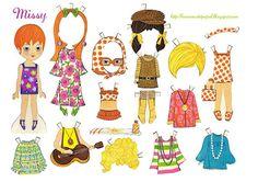 Bonecas de Papel: seventies