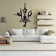 Wall Decal Vinyl Sticker Decals Art Decor Design Yoga Studio Buddha Buddhism Karma Asana Chakras Religion Bedroom Living Room (r164)