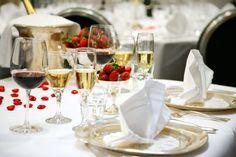 Silver wedding setting