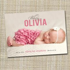 photo baby birth announcement