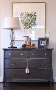 dresser repaint...love this color. by leanne