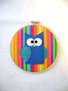 Embroidery Hoop Art for nursery
