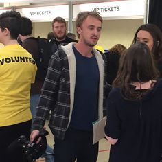 Tom Felton spotted at Wizard World Tulsa filming for his new documentary
