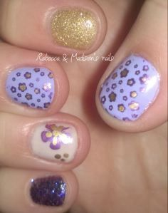 Little Purple Pansies Touched with Yellow Gold