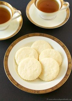 These easy, buttery Short Bread Cookies by www.cookingwithruthie.com are a delight to add to any gathering! They're a classic English cookie that goes perfectly with coffee or tea.
