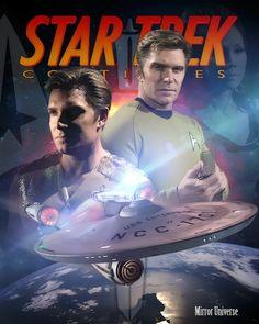 Star Trek: Continues - Mirror Universe Star Trek Characters, Star Trek Movies, Star Trek Posters, Movie Posters, Star Trek Continues, Star Trek Convention, Star Trek Reboot, Star Trek Cast, Star Trek Online
