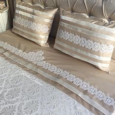 This post was discovered by ze Linen Bedding, Bedding Sets, Bed Cover Design, Luxury Bed Sheets, Crochet Cushions, Diy Pillows, Baby Decor, Bedroom Sets, Bed Covers