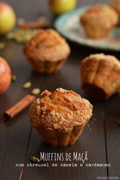 Bocadinhos de Açúcar: Muffins de Maçã com streusel de canela e cardamomo...