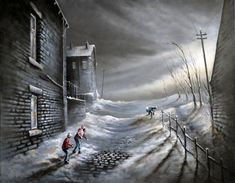 Bob Barker Art : Bullseye Cool Art Drawings, Cool Artwork, Amazing Artwork, Umbrella Painting, Van Gogh Paintings, Landscape Drawings, Winter Art, Art For Art Sake, Pictures To Paint