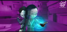 """Yumi Crosses the Threshold by FireLordWael on @DeviantArt"" -- This is an interesting cross between Lyoko avatars and teleportation/translation, from a fanfic made back in 2010 called ""Across Realities"". It looks pretty interesting, even though I've never read the fanfic."