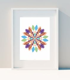 Geometric poster Psychedelic Flower III Art for home by IFKDESIGN
