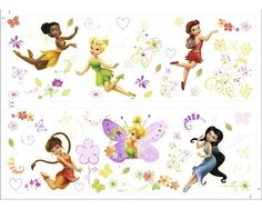 ab8bf8db87796a Fairies Wall Sticker Kids Decor by Graham and Brown Stickers Fée Clochette, Fee  Clochette,