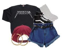"""""""Untitled #989"""" by trinsowavy ❤ liked on Polyvore featuring Brixton, Pepper & Mayne, Vans and H&M"""