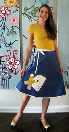 If anyone is crafty enough to make me this skirt and shoes (but flats...not heels..), I'll love you forever.