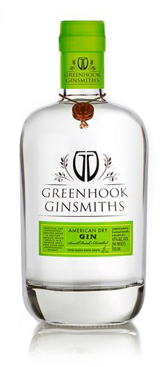 """Greenhook Ginsmiths American Dry Gin distilled on a custom copper pot still designed to work with a vacuum.  """"Vaccum Distillation"""" allows distillation at low temperatures preserving delicate aromatics of botanicals."""