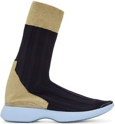 Acne Studios - Blue Knit Batilda High-Top Sneakers