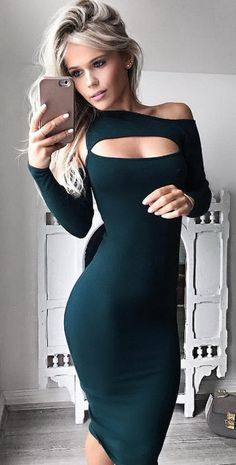 Cheap dress plus size women, Buy Quality club dress directly from China night club dress Suppliers: 2017 autumn Sexy Womens Black Bodycon Dress plus size women clothing Hollow Out womens sexy dresses party night club dress Tight Dresses, Sexy Dresses, 60s Dresses, Peplum Dresses, Woman Dresses, Daytime Dresses, Sexy Outfits, Fashion Outfits, Womens Fashion