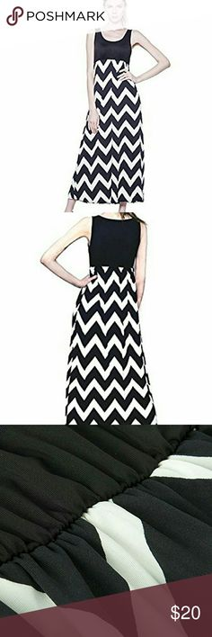 Women's Sleeveless Striped Maxi Chevron Dress Material:rayon spandex, thick silky material, big stretchy, breathable, not see through?  Exclusive design: cute tank T neckline, plus elastic waist for many size, contrast wavy pattern,fashion and elegant?  53 inch full-length (for reference: Height 5.5', dress touches the ground), perfect maxi dress for casual, party, summer beach occasion  Size details:?  1.True to size, the size in are US Size, pls choose I have Med, Lg,xl Ma Mellow Judys…