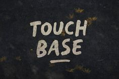 Touch Base by BLKBK on @creativemarket