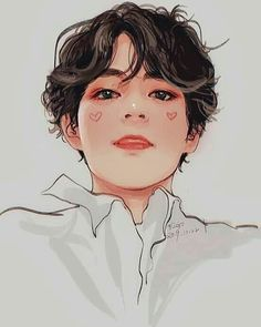 credits to the right owner for this cute masterpiece. October 24 2019 at Taehyung Fanart, Bts Taehyung, Bts Chibi, Taekook, K Wallpaper, Kpop Drawings, Fanarts Anime, Bts Fans, Kpop Fanart