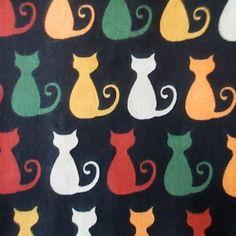 C0005 - gatos coloridos, fundo preto