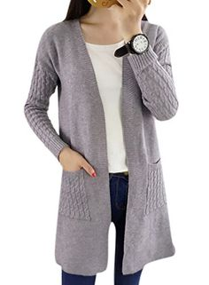 Lingswallow Women's V Neck Cable Knit Open Front Cape Sweater Cardigan Grey   Special Offer: $27.66      388 Reviews Size(inch)£º Bust: S:35.88,M:37.44,L:39 Shoulder: S:25.35,M:25.74,L:26.13 Length: S:33.93,M:34.32,L:34.71 S(US=0-2),M(US=4-6),L(US=8-10) Lingswallow is a contemporary...