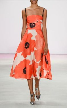 Get inspired and discover Lela Rose trunkshow! Shop the latest Lela Rose collection at Moda Operandi. Diy Fashion, Runway Fashion, Fashion Dresses, Fashion Ideas, Cute Summer Dresses, Pretty Dresses, Orange Wedding Colors, Full Skirt Dress, Lela Rose