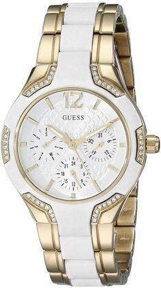 Women's Gold-Tone Guess Iconic Multi-Function Watch U0556L2
