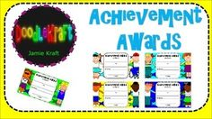 Print, fill out, and personalize these Achievement Awards for your students' accomplishments. This FREEBIE includes 5 achievement awards that can be personalized by any teacher in any classroom!Don't forget to leave feedback and enjoy TpT credits and receive discounts!