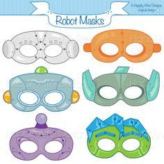 Robots Printable Masks, robot mask, bots mask, character mask, robot costume, robot print, kids mask, future, metal, bots costume, boys