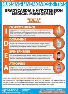 "Drugs for Bradycardia & Hypotension: ""IDEA"" Nursing Mnemonics and Tips"