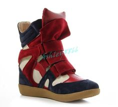Womens Strap High-Top Sneakers Shoes/Ladyies Ankle Wedge Boots Casual Hot 2017