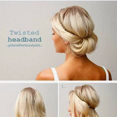 Hair Twisted in Headband Tutorial