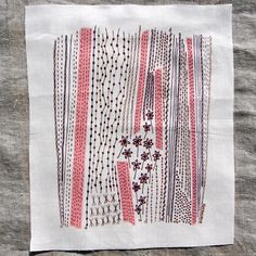 Summer Lines Embroidery Sampler by dropcloth on Etsy