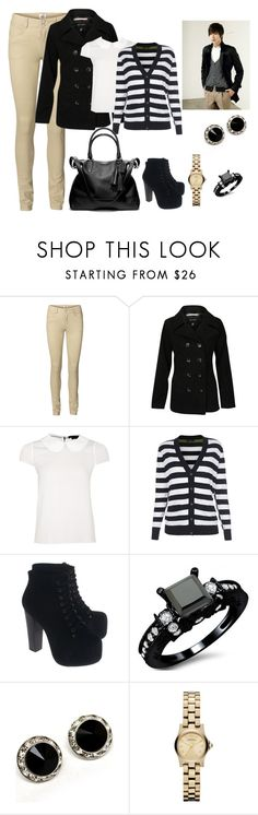 """Minho's Stripes"" by bubblyduck ❤ liked on Polyvore featuring Vero Moda, Brave Soul, Alice + Olivia, Paul Smith, Jeffrey Campbell, Marc by Marc Jacobs and Coach"
