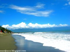 Located on this long stretch of gray sand beach are several resorts namely: Angara's Beach House, Bay's Inn Resort, MIA Surf and Sports Resort and Baler Guesthouse and Restaurant, which offer accommodation near the beachfront and provide food, relaxation, and respite for swimmers and surfers.