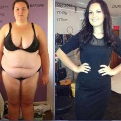 Before and After Weight Loss Photo and How She Did It