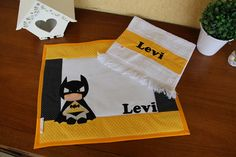 Batman, Patches, Quilts, Kids, Baby Things, Placemat, Decorative Towels, Hand Towels, Kid Drawings