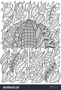 VISIT FOR MORE Hand draw doodle coloring page for adult. I love Autumn. An Umbrella and Leaves. Raster copy The post Hand draw doodle coloring page for adult. I love Autumn. An Umbrella and Leaves. Fall Coloring Pages, Doodle Coloring, Printable Coloring Pages, Free Coloring, Coloring Pages For Kids, Coloring Books, Fall Coloring Sheets, Kids Coloring, Halloween Illustration