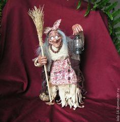 Купить Ягуша с фонариком - комбинированный, сказочный персонаж, баба-яга, русские сказки, русские традиции