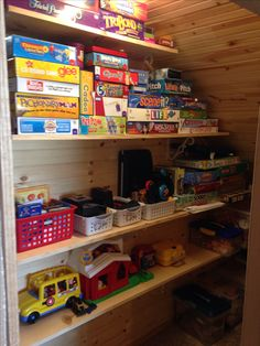 My granny closet second pic! Toy room and game storage using the wasted space under my stairs.