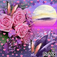 Noche Beautiful Flowers Wallpapers, Beautiful Gif, Beautiful Butterflies, Beautiful Roses, Flowers Gif, Pink Flowers, Gifs, Imagenes Gift, Valentines Gif