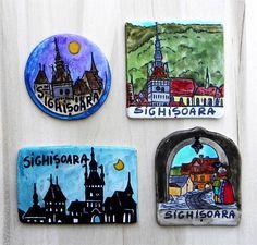 Magneti suvenir – Sighisoara   festART Coasters, Coaster