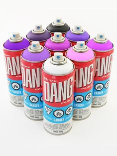 DANG Diamond Packs - PURPLE PACK (9 Cans) Graffiti Spray Paint, Spray Paint Cans, Chalk Markers, Shades Of Purple, Packing, Diamond, Search, Art Drawings, Random