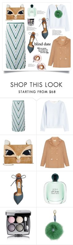 """""""Dress to Impress: Blind Date"""" by alinepinkskirt ❤ liked on Polyvore featuring Tory Burch, Marina Hoermanseder, Betsey Johnson, 'S MaxMara, Martha Stewart, Steve Madden, Chanel and Shrimps"""