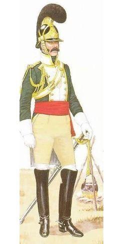 Dragones de Numancia 1809 Oficial